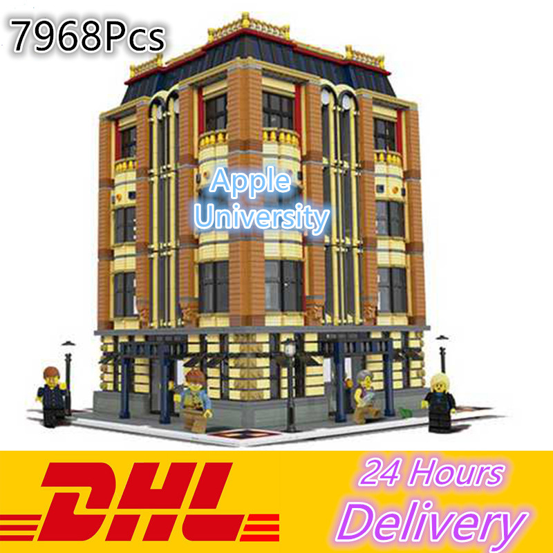 Lepin 15016 7968pcs MOC Creators Series The Apple University Set Building Blocks Bricks  Model kid Toys For Children Gift lepin 02012 city deepwater exploration vessel 60095 building blocks policeman toys children compatible with lego gift kid sets