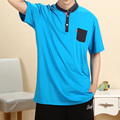 2016 Marca de Moda Loose Hip Hop Hombres Camiseta de manga corta Bolsillo de la raya T-shirt Plus Tamaño XXXL 4XL Homme camisa masculina 5XL
