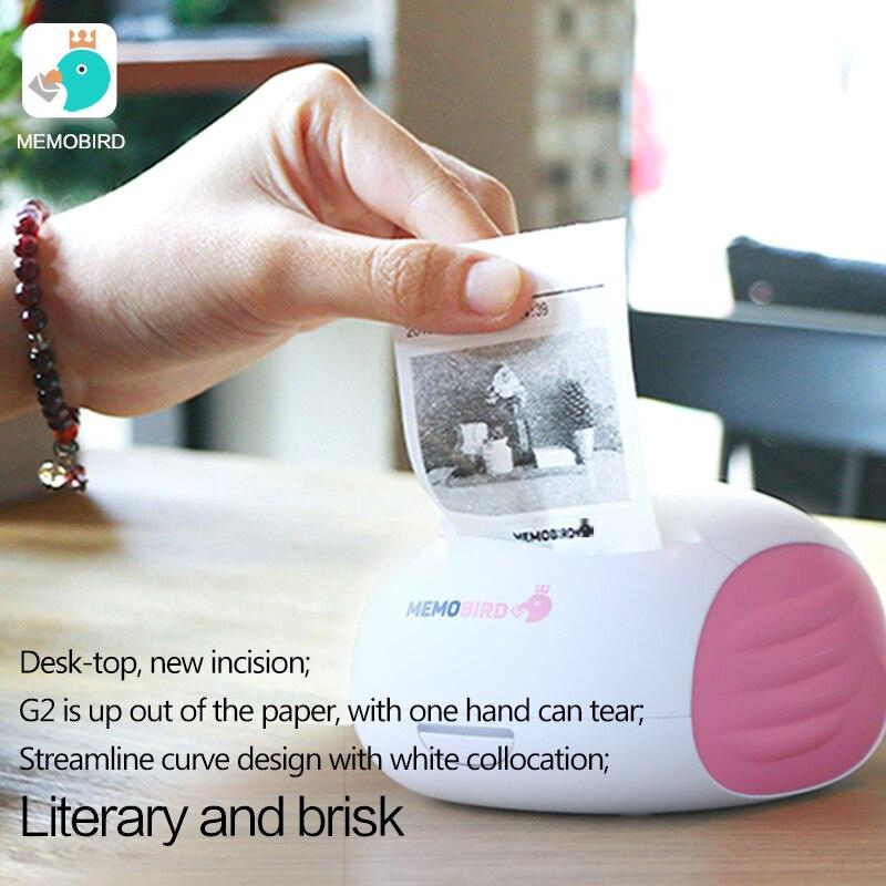 MEMOBIRD G2 rosa Stampa di Codici A Barre Wireless Pocket Stampante Termica Stampante Wifi Portatile Bluetooth Wifi Stampante Fotografica JEPOD