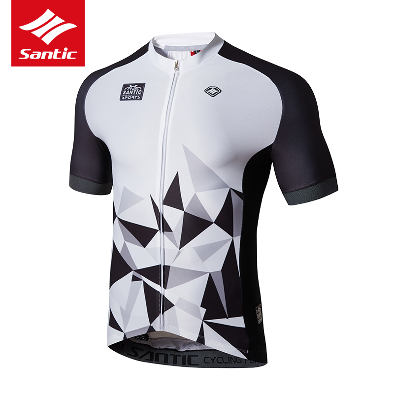 Santic Cycling Jersey Short Sleeve Bicycle Bike Top Shirt Clothes Breathable Ropa Maillot Ciclismo Men Riding Downhill Jersey  2017 mavic maillot ciclismo zebra pattern men personality long sleeve cycling breathable bike bicycle clothes polyester s 6xl