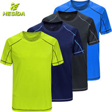 Купить с кэшбэком T Shirt Men's T-Shirt Quick Dry Short Sleeve Running Shirt Men Sport Wear Fitness Top Sportswear Gym Tennis Soccer Jersey Tshirt