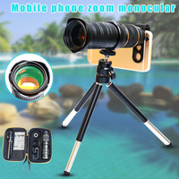 1set Phone Photography Kit 18 30X Zoom Telephoto Lens with Tripod Clip UV Lens