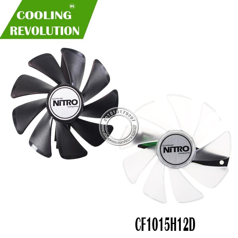 95mm CF1015H12D DC12V Cooler Fan Replace For Sapphire NITRO RX480 8G RX 470 4G GDDR5 RX570 4G / 8G D5 RX580 8G OC