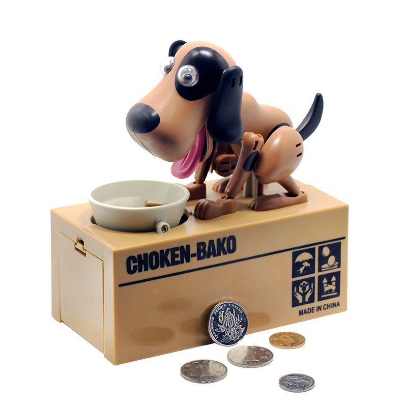 1 Pezzo Cane Robot Banco Canino Money Box Money Bank Automatico stola Coin Piggy Bank Risparmio di Denaro Box Salvadanaio Regali per il capretto
