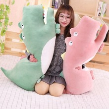WYZHY Down cotton soft crocodile pillow doll plush toy home bedside decoration to send friends and children gifts  100CM