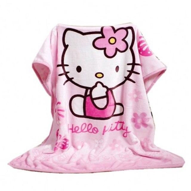 Hello Kitty Fleece Deken.Te Koop 70 100 Cm Hello Kitty Cartoon Coral Fleece Wollen