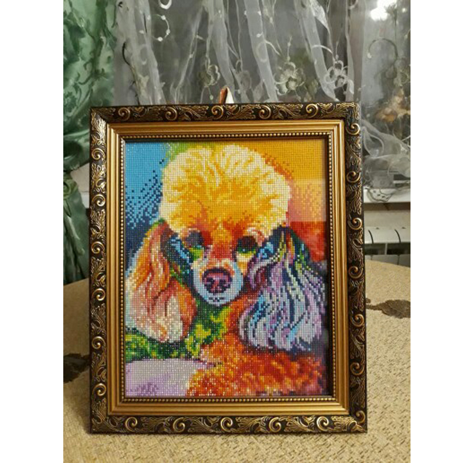 Diamond Painting by Number Kit Full Drill Karida 5D DIY Diamond Painting Animal Full Square Drill Snow Dog Embroidery for Wall Decoration 12X16 inches