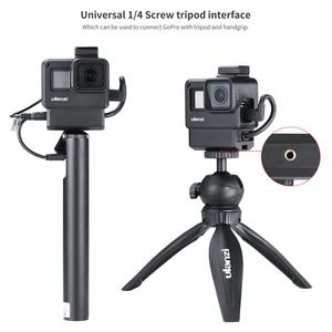 Image 3 - ULANZI V2 Pro GoPro vlog boîtier boîtier Cage cadre w Microphone froid chaussure support + 52mm ND filtre anneau adaptateur pour GoPro 7/6/5