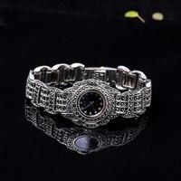 Ретро тайский серебряный Товары новый список Бизнес Классическая S925 стерлингов Серебряные Ювелирные изделия женский часы браслет