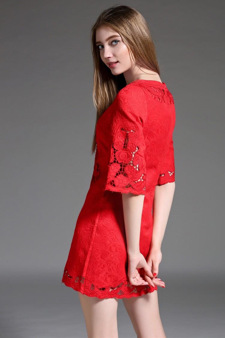 8ed782cf389b6 FLASH SALE] Embroidery short dress 2018 new High quality spring ...