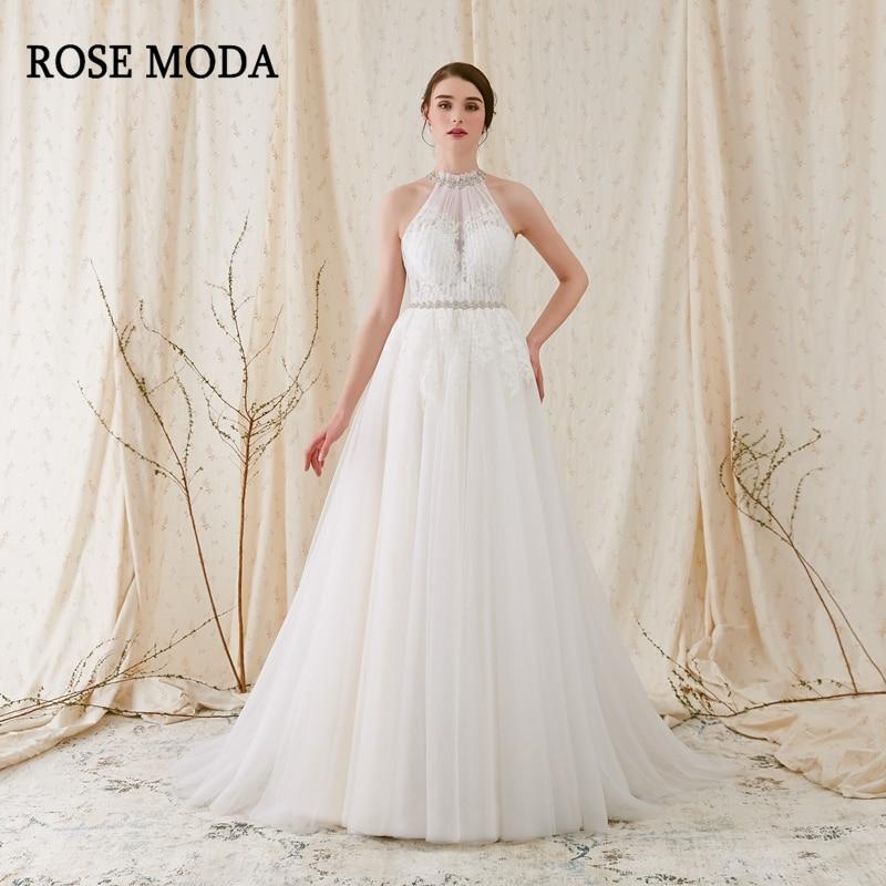 Aliexpress.com : Buy Rose Moda Simple Tulle Beach Wedding