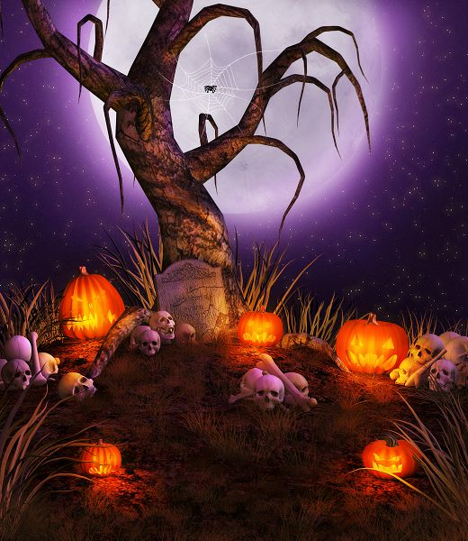 Allenjoy 300cm*600cm(10x20ft) photography backdrops halloween Withered grass pumpkins photo studio background ZJ