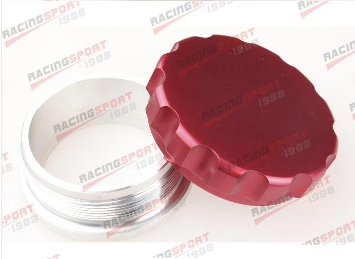 3 76.2mm Aluminium Alloy Weld On Filler Neck And Cap Oil, Fuel, Water Tank Red