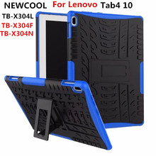 Case For Lenovo TAB4 Tab 4 10 TB-X304L TB-X304F TB-X304N Cover Heavy Duty 2 in 1 Hybrid Rugged Durable Funda Tablet Stand Shell