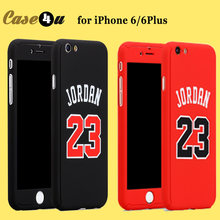 Hybrid Basketball Full Body Case coque For iPhone 8 7 6 6s Plus 360 Case Kobe Bryant Curry Michael Jordan 23 Air +Tempered Glass(China)