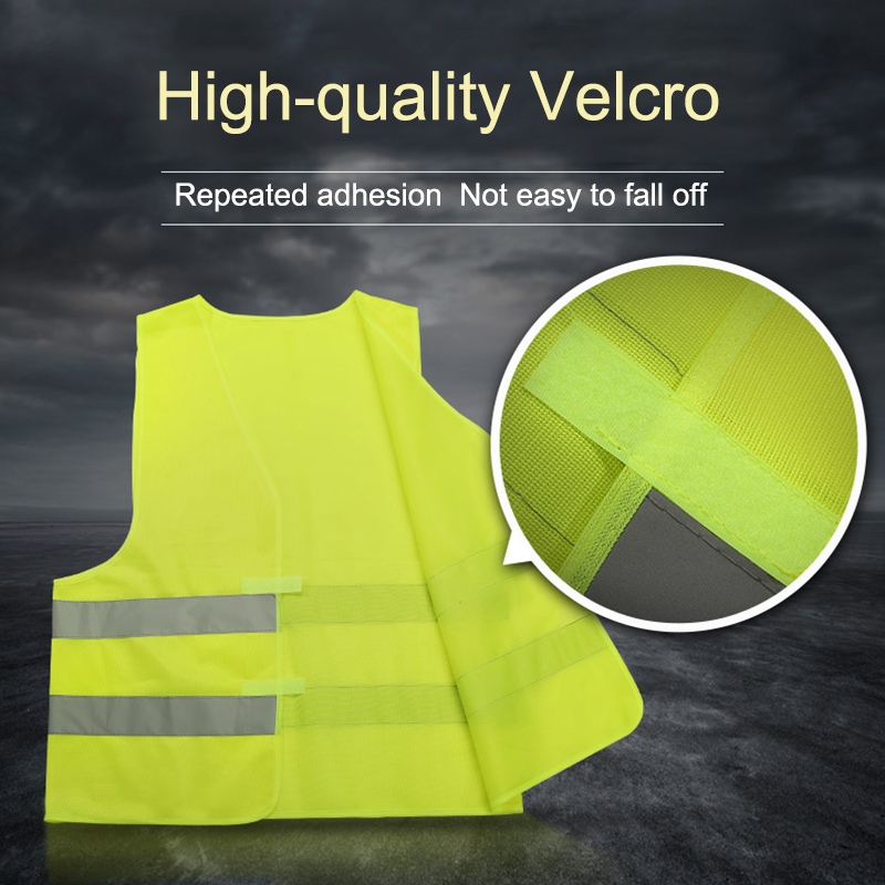 New Safety Reflective Vest Security Visibility Construction Traffic Warehouse DOM668