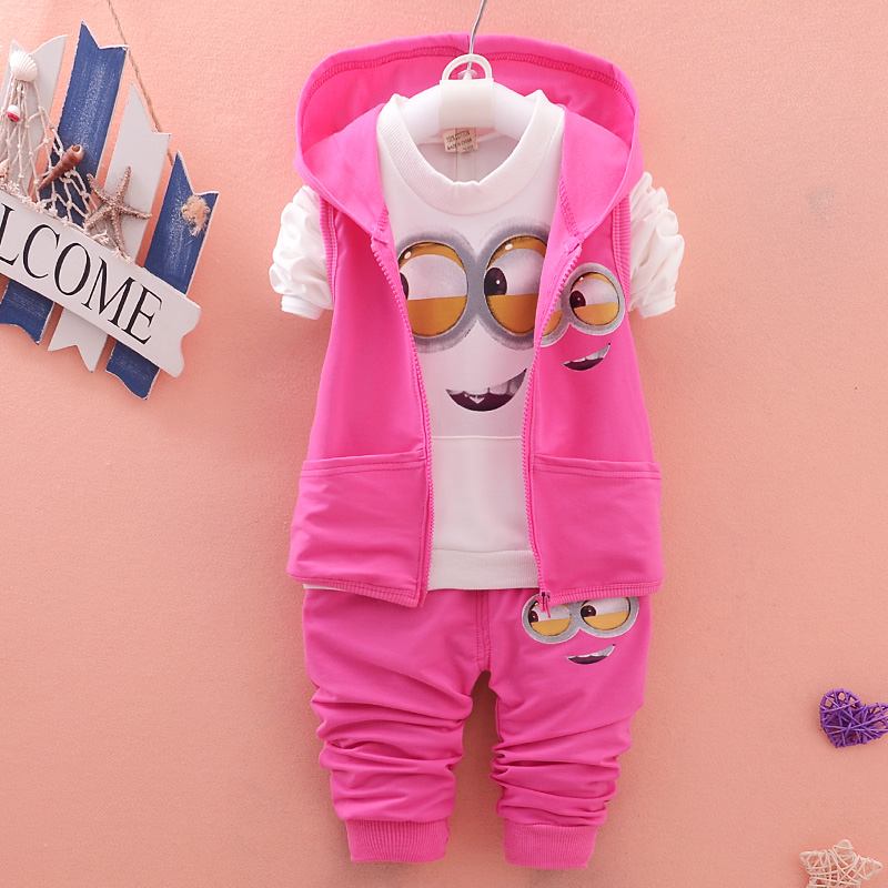 b9b496054 New Cute 3pcs set Blue pink Baby Girls Cotton Suit Winter Warm ...