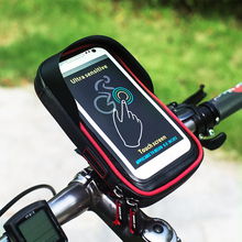 6.0 inch Waterproof Bike Bicycle Mobile Phone Holder Stand Handlebar Mount Bag For iphone X Samsung LG Huawei Bicycle Bags hot selling waterproof bicycle bag bike mount holder case bicycle cover for mobile phone
