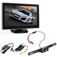 New Car Monitors 5 Inch TFT LCD Digital Car Rear View Monitor LCD Display Wireless Waterproof
