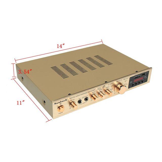 bluetooth 298BT Power Amplifier LCD Display Stage Audio HiFi 800W 220V-240V 50Hz 5CH Home Theatre FM Radio Support SD/USB