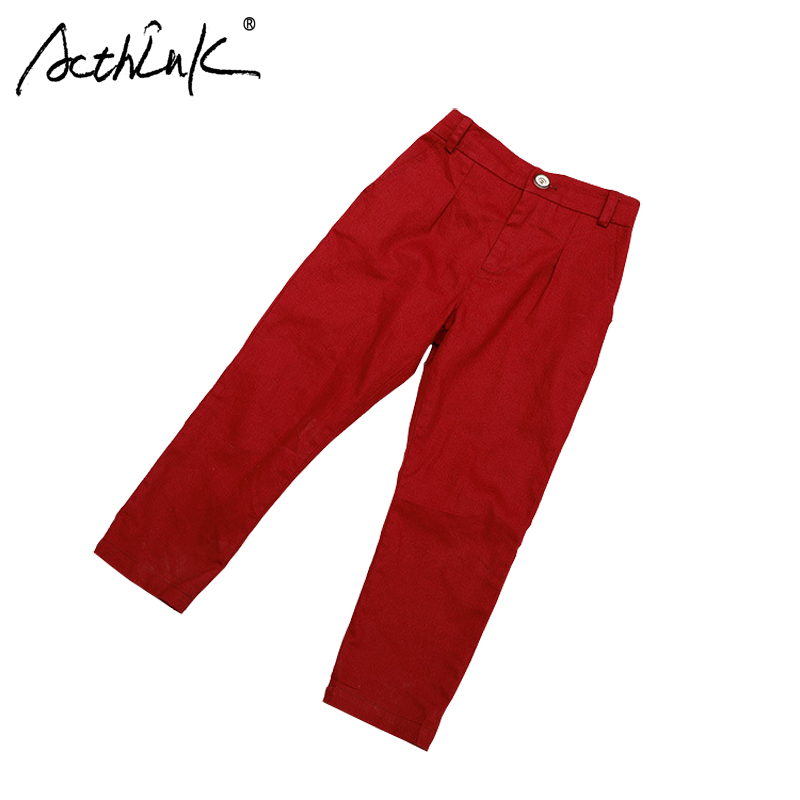 New 2018 Boys Casual Cotton Pants Brand Kids Formal Suits Pants for Boys Spring Fall Long Trousers Boys Red White Wedding Pants spring 2018 baby boys jeans teenage girls pants for boys pants cotton long casual pants school children kids sport trousers