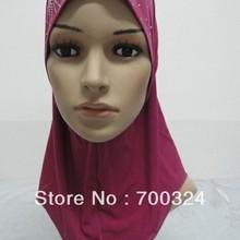 H414b Красивая маленькая девочка хиджаб, быстрая, разные цвета, можете заказать один десяток Все Белый