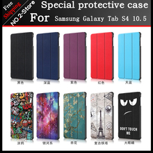 Smart Cover case For Samsung Galaxy Tab S4 10.5 SM-T830/SM-T835/SM-T837 Printed Folio stand PU leather Case for T830 T835 T837  - buy with discount