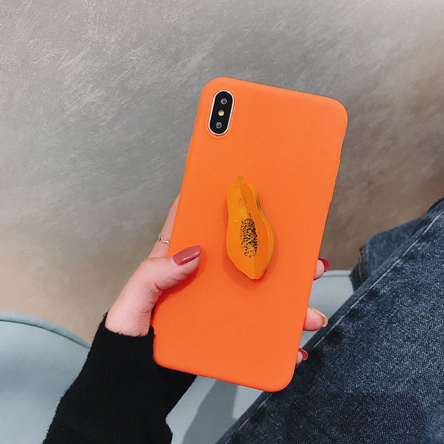sports shoes dd6d6 35ff9 US $4.89 |Candy colors TPU Soft silicone Avocado papaya phone case For  IPHONE XS MAX XS XR X Pop socket For hoesje Iphone 8 PLUS X 7 6 6SP-in ...