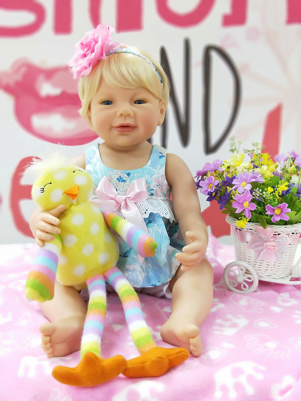 Pursue 22 Inches Handmade Full Body Vinyl Silicone Reborn Toddler Princess Baby Girl Doll Toys for Children Birthday Gift Dolls collectible washable full body vinyl silicone reborn toddler princess girl baby alive doll toys for children birthday gift dolls