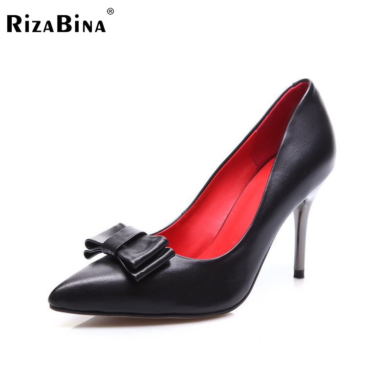 women real genuine leather stiletto pointed toe high heel shoes sexy fashion brand pumps ladies heels shoes size 34-39 R5620 new 2017 spring summer women shoes pointed toe high quality brand fashion womens flats ladies plus size 41 sweet flock t179