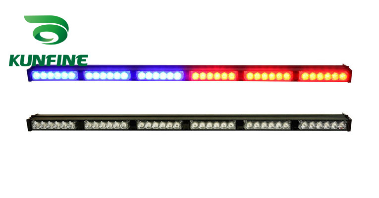 Car LED strobe light bar led work light bar warning light with control switch high quality Traffic Advisors light bar