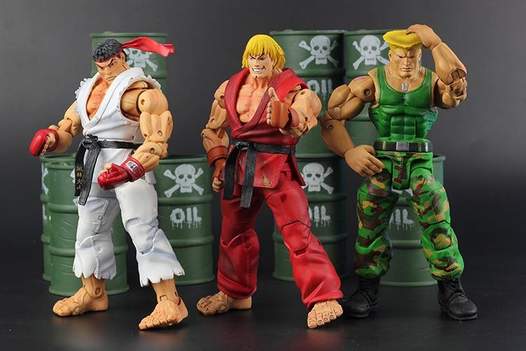 цены  Hot Sale NECA High Quality  Classic Game Street Fighter IV 4 Ryu Ken Guile Akuma Action Figure Toys retail  Box