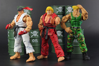Hot Sale NECA High Quality Classic Game Street Fighter IV 4 Ryu Ken Guile Akuma Action Figure Toys retail Box