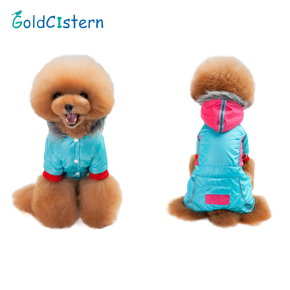 2019 Nuovo Stile Quilted Padded Hooded Pet Dog Coat Winter Warm Small Dog Clothes For Chihuahua Soft Fur Hood Puppy Jacket Clothing
