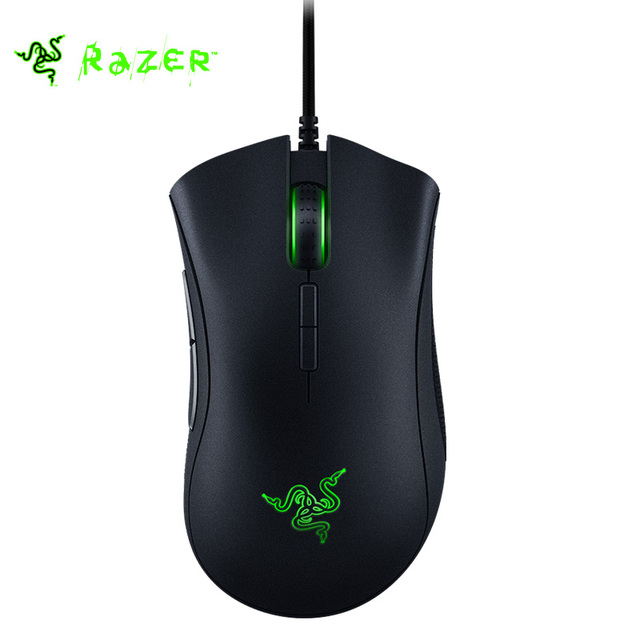Elite 16000 DPI Razer Razer DeathAdder Ratón USB Wired Optical Gaming Mouse 7 botones Programables Hyperesponse