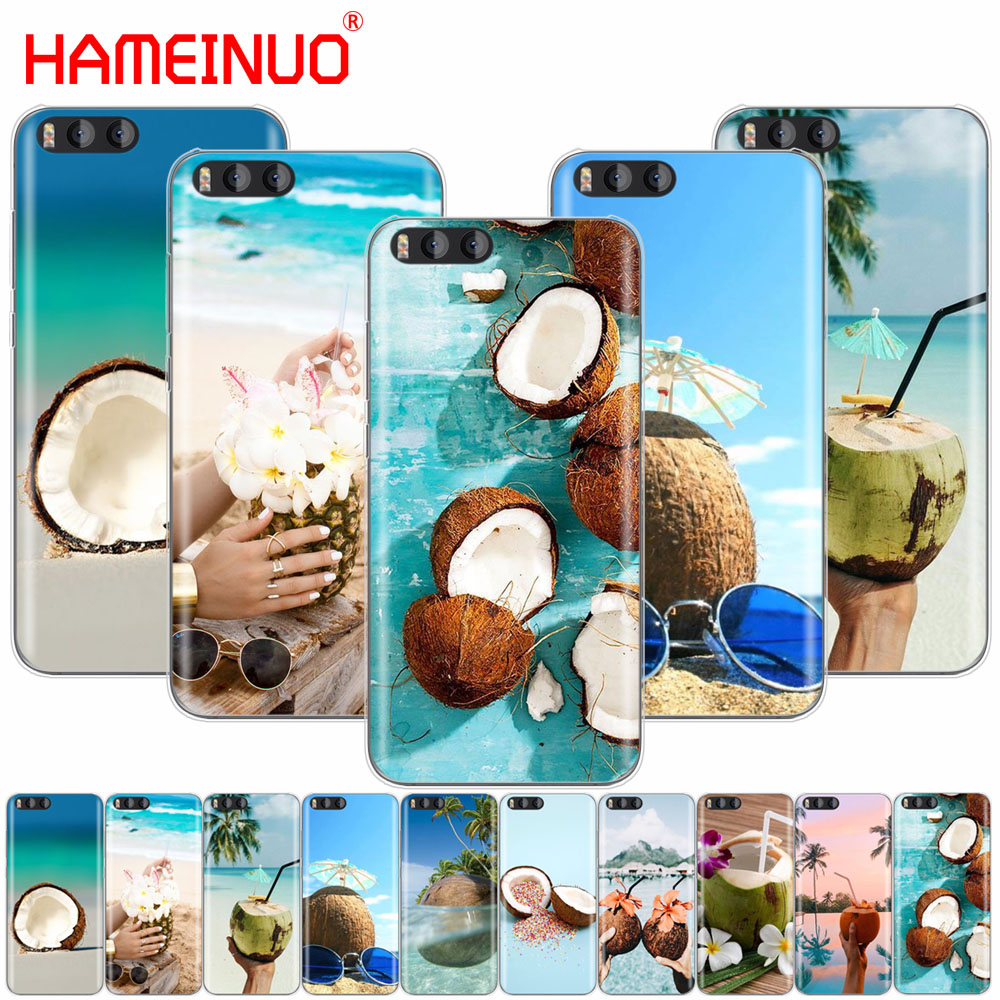 HAMEINUO Coconut on the beach Cover Case for Xiaomi Mi 3 4 5 5S 5C 5X 6 Mi3 Mi4 4S 4I 4C Mi5 MI6 NOTE MAX 2 mix plus