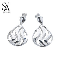 SA SILVERAGE Real 925 Sterling Silver Drop Earrings