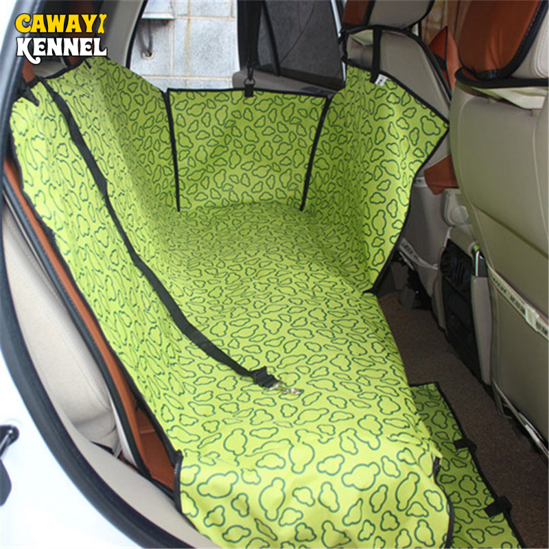 CAWAYI KENNEL Dog Carriers Waterproof Thicker Rear Back Pet Dog Cat Car Seat Cover Mats Hammock Protector With Safety Belt D1058