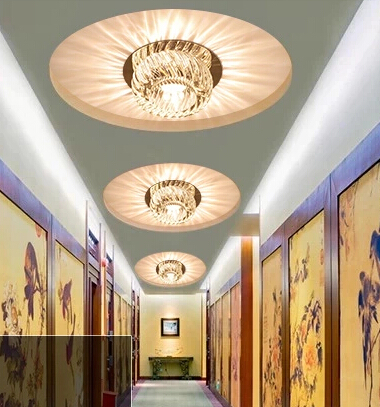 Cahaya Lampu Kristal Modern Dipimpin Balkon Langit Untuk Ruang Tamu Dekorasi Rumah Abajur Pengkilap De Sala In Ceiling Lights From