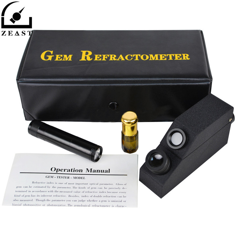 1.30-1.81 RI Gem Refractometer Monochromatic Light Filter Gemological Gemstone Refratometro Tester ...