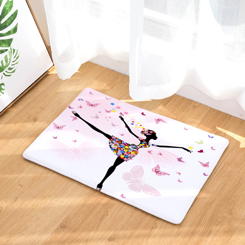 CAMMITEVER Cartoon Lovely Girls Mats Carpet Hallway Doormat Anti - Slip Bathroom Carpet Kitchen Mat/Rug