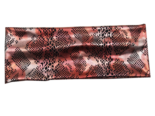 0dec9e5f8d7 P17156 Newest set good stretch python metallic spandex plain headbands  fashion black rhombus printed headwear headband