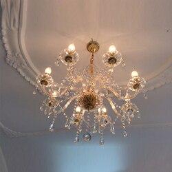 Łańcucha żyrandol kryształowy żyrandol led oświetlenie kuchenne oprawy kryształowe złoty żyrandol k9 kryształowy żyrandol crystal light