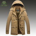 Plus Size L-8XL Winter Parkas Men Down Jacket  2016 Thick Nature  Warm windbreaker Loose Brand AFS JEEP Original Male Coats