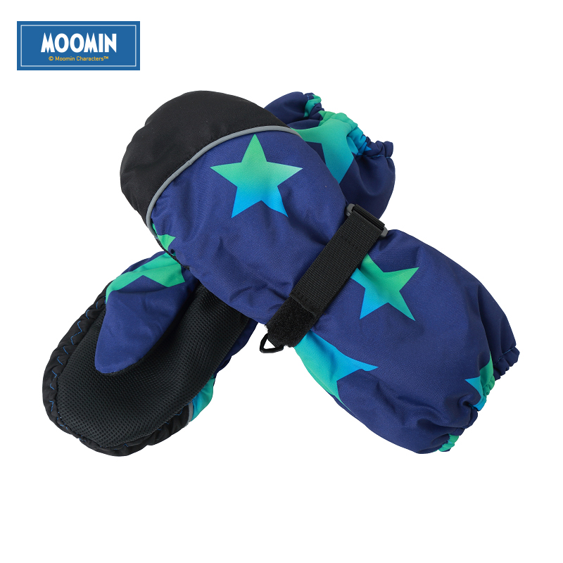 Moomin 2016 New Arrival Winter Waterproof Gloves Polyester warm gloves boys outdoor winter gloves snow цена