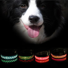 Pet Anjing Kerah Memanfaatkan Malam Keselamatan Berkedip LED Anjing PET Luminous Adjustable Usb Isi Ulang Lampu Keselamatan Lebih Tinggi Kulit:(China)