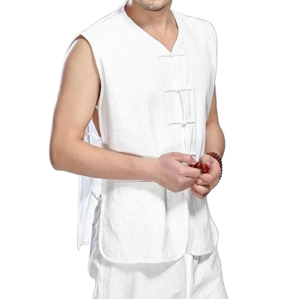 الرجال الصينية خمر القطن سترة مزارع العمال أكمام تانك الأعلى ملابس الصيف عارضة متعدد الألوان 043-377