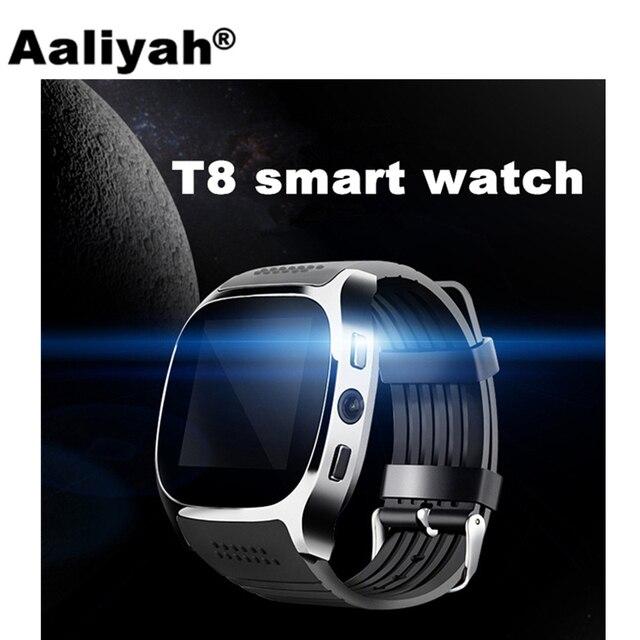 Алия T8 Bluetooth SmartWatch С Камера Facebook WhatsApp Поддержка sim-карта TF Беспроводные устройства Смарт часы-телефон для Android