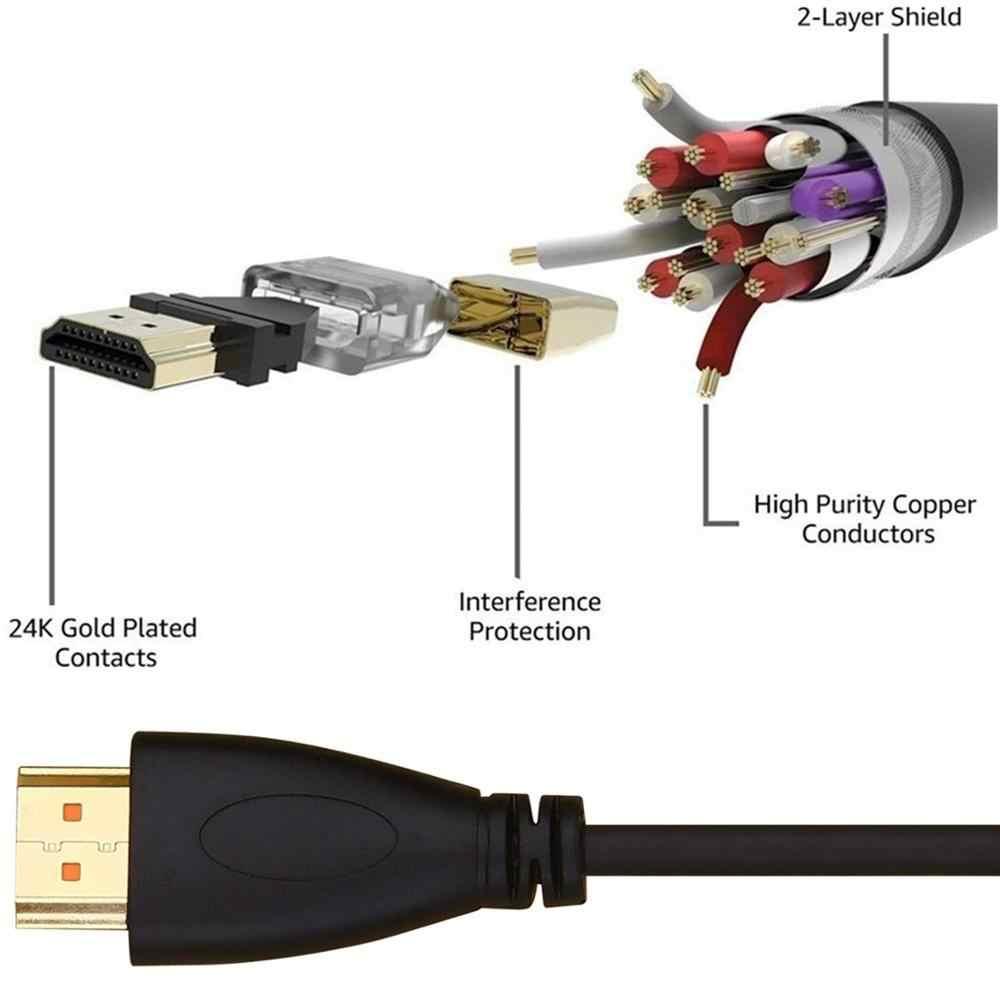 HDMI Kabel 1.4V 1080P MALE 1 M 2 M 3 M 5 M Berlapis Emas Tinggi kecepatan untuk HDTV Splitter Switcher PS3