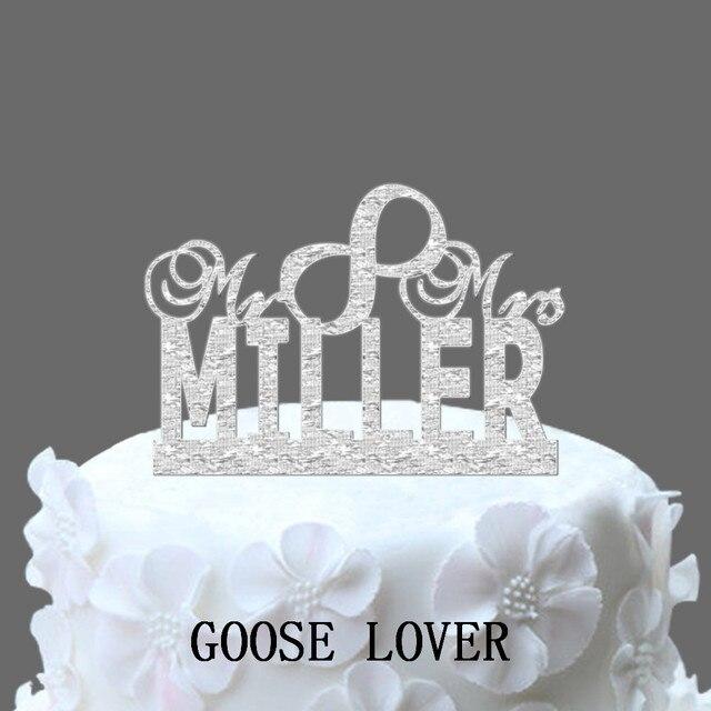 Just Married Wedding Cake Decor Vintage Custom Cake Topper Custom